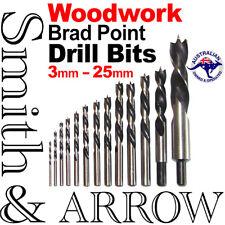 7P SET WOODWORKING DRILL BIT BRAD POINT WOOD 4 5 7 6 8 10 12mm TIMBER SHANK
