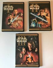 Star Wars: Episode 1 + 2 + 3 - All 3 Prequels (Each are 2-Disc DVD Sets) Lucas