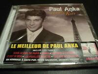 """CD NEUF """"PAUL ANKA CHANTE PARIS"""" le meilleur de P.A. en 26 titres / BEST OF"""