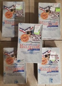 Lot of (5) 1991 Impel Olympic Hall Of Fame Series Trading Cards Wax Box Sealed