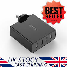 ORICO 4-port Multifunction USB Mains Charger UK Plug AC Travel Power Adapter