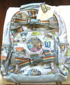 Pottery Barn Star Wars BACKPACK BAG Chewbacca jedi Hans superhero school boy