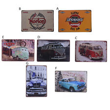 Vintage Tin Metal Sign Norton Old Car Motel Tree Looking for the Trip Chevrolet