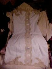 EXQUISITE VINTAGE VAN REALTE UNDERTHINGS, LT. BLUE WITH RIBBONS & LACE SIZE 34