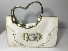 GUESS Vintage Purse LOLA 1980 White satchel Marciano Handbag Heart Metal Handles
