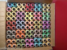 100 Spools 25 Mix Color Polyester Thread 300metre 328 yards each Spool Free Ship