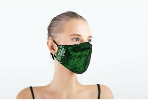 Reusable Washable Fashion Face Mask Sequin Glitter Bling Mouth Nose Protective