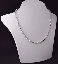 Kugelkette Perlenkette Collier 925 Silber Halskette Silberkette | Ø 3 mm & 50 cm