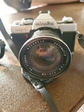 Minolta Xg-7 Slr Film Camera with F 21mm Bushnell Lens