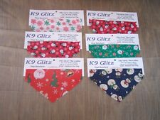 CHRISTMAS---BANDANA---Over the Collar---Pet Shop/Groomer Retail Sale--6pc Lg Dog