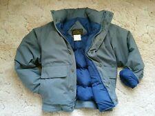 Eddie Bauer Gore-tex Goose Down Puffer Bomber Jacket Coat. Gray. Men's Small S