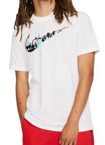 Nike Mens T-Shirt Classic White Size 2XL Dri Fit Logo Graphic Tee $25- #243