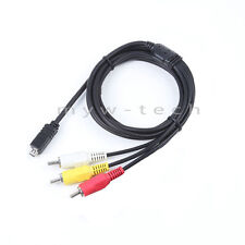 AV RCA Video Audio Cable TV Cord Lead for Canon Powershot SX30 is SX40 hs Camera