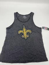 New Majestic mens t-shirt sleeveless Team Apparel charcoal Sz XL Brees 9 W19