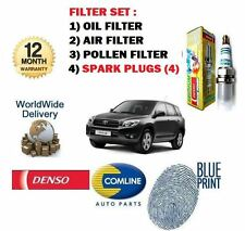 FOR TOYOTA RAV4 2.0 VVTi 2005-2009 OIL AIR POLLEN FILTER KIT + SPARK PLUGS