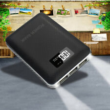 UK 50000mAh 3 USB LCD 2 LED Power Bank Backup Battery Charger For Mobile Phones
