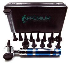 Ent Otoscope Blue Handle 14 Speculas Examination Diagnostic Premium Instruments
