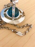 Vivienne Westwood Silver Necklace Blue Orb