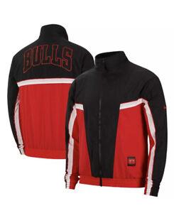 Nike Chicago Bulls Windbreaker Jacket Black Red Jordan CI1434-657 Men's L NWT