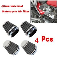 4x Motorcycle Air Tapered Pod Filter 60mm for Honda,Yamaha,Suzuki,Kawasaki,ATV