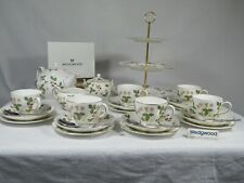 """Wedgwood """" Wild Strawberry """"  Complete Tea  Set & 3 Tier Cake Stand, Magnificent"""