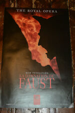 LA DAMNATION DE FAUST Royal Opera House 1991 Covent Garden Theatre Poster