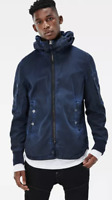G Star Batt Hooded Overshirt Jacket Coat Blue Size Small *REF71*