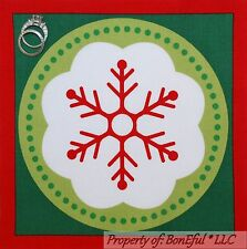 BonEful Fabric Cotton Quilt Square Block Dr Seuss Grinch Xmas Red Dot Snowflake