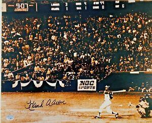 Atlanta Braves Hank Aaron Signed 16x20 715 HR Photo Fanatics Hologram Auth