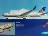 Herpa Wings 1:500 532846  United Airlines Boeing 757-200 N34131 Neuware