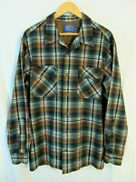Modern Pendleton Men's Plaid Board Shirt Size L Tall near mint condition!
