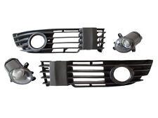 VW PASSAT 3B B5 00-05 FOG LIGHTS LAMPS + BUMPER GRILLE LEFT + RIGHT SET NEW (H3)