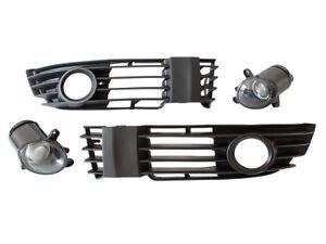 FOG LIGHTS FOG LAMPS + BUMPER GRILLE LEFT + RIGHT SET FOR VW PASSAT 3B B5 00-05