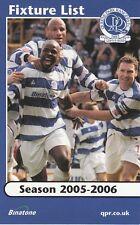 Fixture List - Queens Park Rangers 2005/6