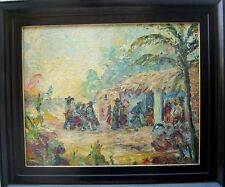 Very Colorful Latin American (Mexican?) Impasto O/B Signed Illegibly