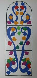 Matisse Original Lithograph framed, Verve, (Mourlot 1958) 'Vigne' (Vine)