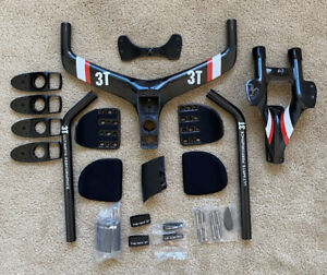 3T Aduro High-V Aerobar Mount Carbon for Cervelo P5 Six with Extensions