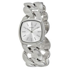 DKNY Chanin Silver Dial Ladies Chain Watch NY2569