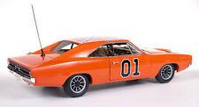 1:18 Autoworld Authentics Dukes of Hazzard Dodge 1969 Charger el general Lee amm964