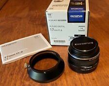 Olympus Zuiko Digital 17mm f/1.8 Lens, Black, for Micro 4/3 + Metal Hood EX++