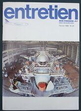 "MAGAZINE AIR FRANCE ""ENTRETIEN"" N°24 - 1986 - AERONAUTIQUE CONSTRUCTION SECURITE"