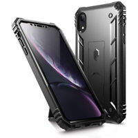 Apple iPhone XR Case [w/Kick-stand] Poetic® Dual Layer Shockproof Cover Black