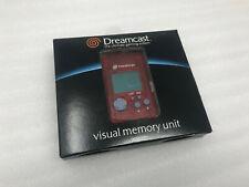Sega Dreamcast Red VMU Visual Memory Unit Memory Card RARE! NEW Sealed! CIB