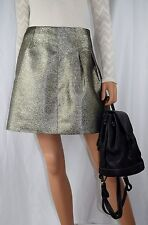 NEW WITH TAGS MADEWELL J. CREW All Over Metallic Mini Skirt Size 2