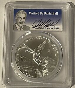 2016 Mexico Silver Libertad PCGS MS 70 1 Oz. David Hall Signed Numbered & Graded