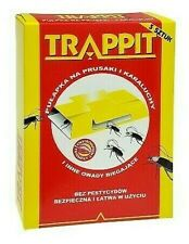 Trappit 5pcs Glue Trap With Luring Tablet to Catch and Monitor Cockorches Roches