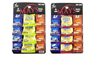 AMaysing 12 Pack Pub Card Big D Salted & Dry Roasted Nuts + Scampi/Bacon Fries