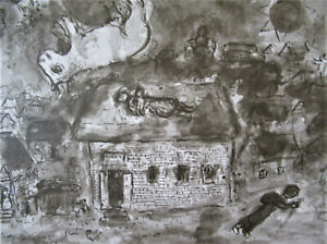 CHAGALL - MY HOMESTEAD - ORIGINAL LITHOGRAPH 1977 - FREE SHIP IN THE US  !!!