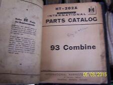 IH INTERNATIONAL 93 COMBINE PARTS MANUAL