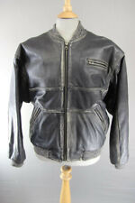 "SPRINT PRIDE RYAN CO BRITISH MADE BLACK LEATHER BOMBER FLYING JACKET 44""/LARGE"